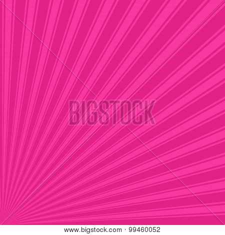 Barbie pink Color Stripe Funky Sun Rays Backgound