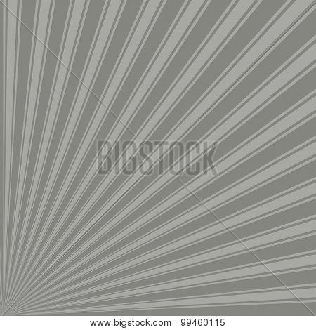 Battleship grey Color Stripe Funky Sun Rays Backgound