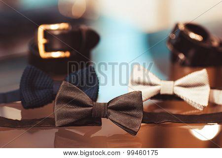 Menswear Set. Belt, Bow Tie