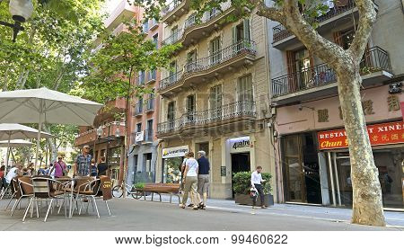 Architecture Along The Rambla Of Barcelona