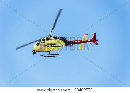 Sochi Autodrom, Helicopter Television Was Broadcast Live.
