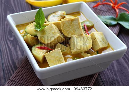 Green Curry Tofu  Vegetable Food.