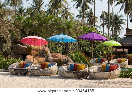 Swimming Pool And Beach Chairs