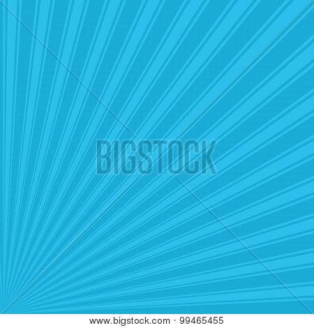 Bright cerulean Color Stripe Funky Sun Rays Backgound
