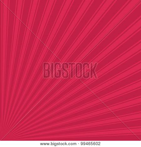 Bright maroon Color Stripe Funky Sun Rays Backgound
