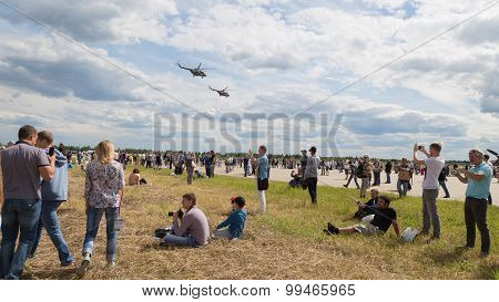 Helicopter At An Airshow