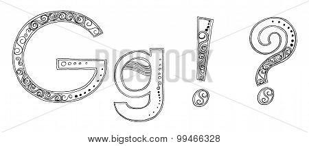 G Vandan Freehand Pencil Sketch Font