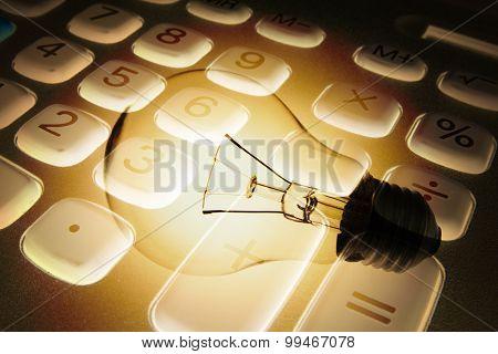 Calculator And Light Bulb