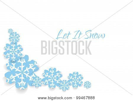 Card with snowflakes and text