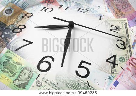 Clock And Dollar Notes