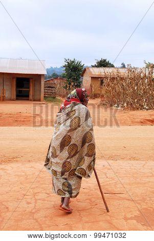 An Old African Woman, Pomerini,tanzania, Africa 012