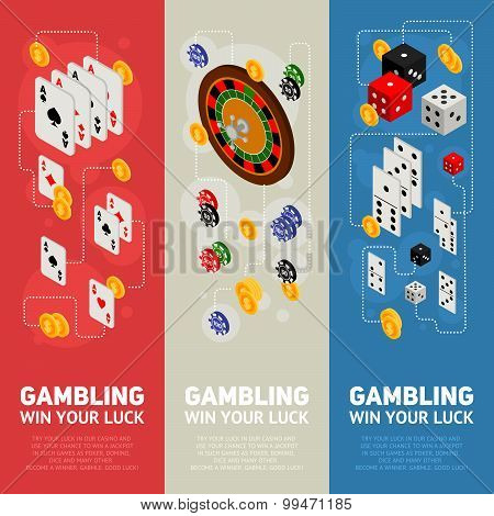 Casino Isometric Design Concept Of Gambling Templates