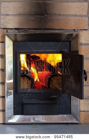 Burning Wood In A Stove