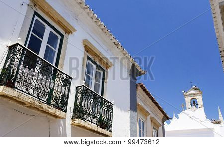 Architectural detail in the old town of Faro, Algarve, Portugal