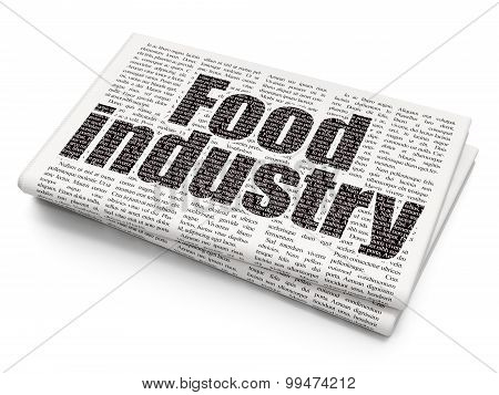 Manufacuring concept: Food Industry on Newspaper background