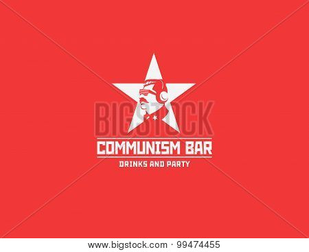 Communism style logo restaurant bar