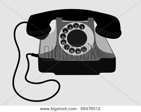 Old Phone. Vector. EPS10.