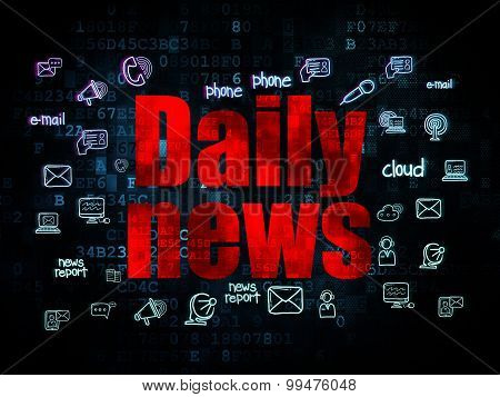 News concept: Daily News on Digital background