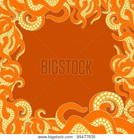 Tentacles frame with copy space