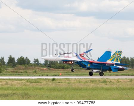 Planting Powerful Military Fighter Su-27