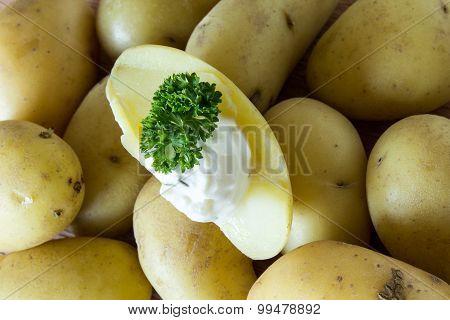 Jacket potatoes with quark