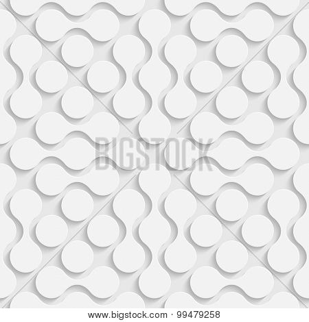 Vector Oriental Background. Regular White Texture