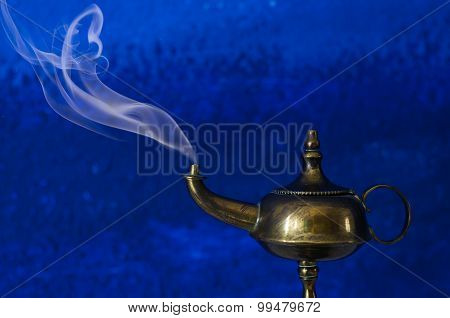 Make A Wish Concept - Aladdin Lamp