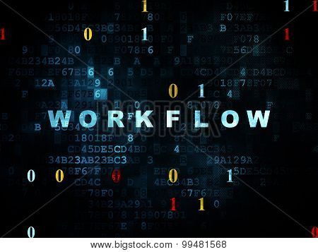Finance concept: Workflow on Digital background