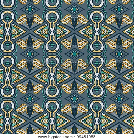 Abstract Seamless Ornament Pattern. The Kaleidoscope Effect. Ethnic Damask Motif