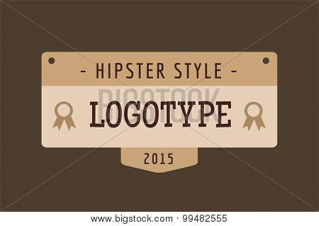 Hipster modern thin style  logo
