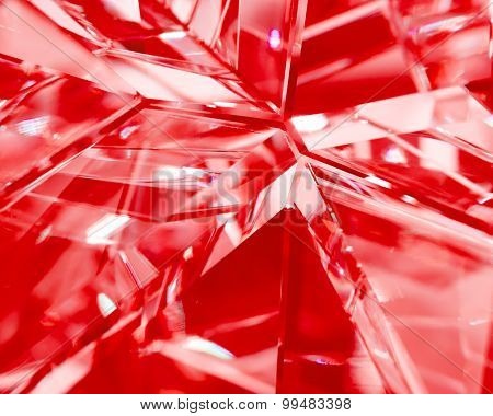 abstract red background of crystal refractions