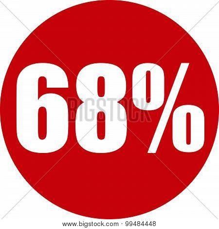 68 Percent Icon