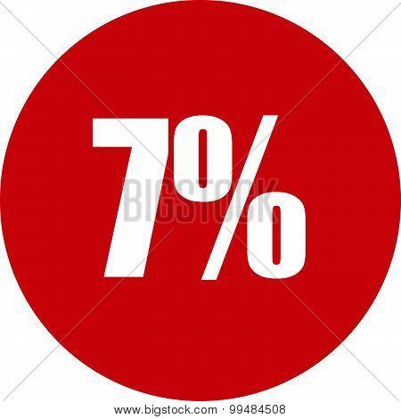 7 Percent Icon
