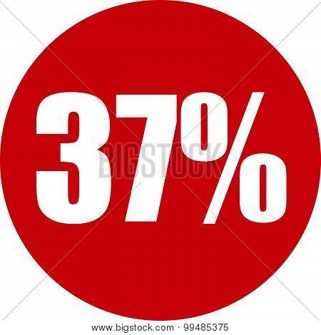 37 Percent Icon