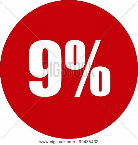 9 Percent Icon