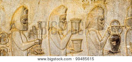 Armenian tributes relief detail Persepolis