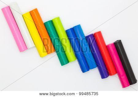 Color plasticine sticks for children playing