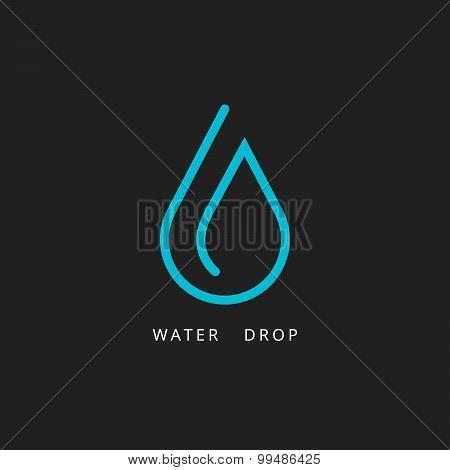 Water drop logo. Design element. Vector illustration