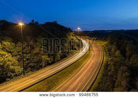 Bendy Highway At Night