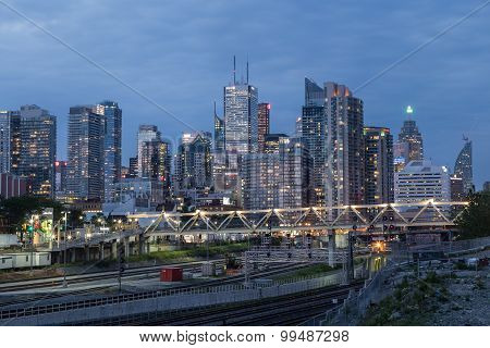 Toronto Downtown During The Blue Hour
