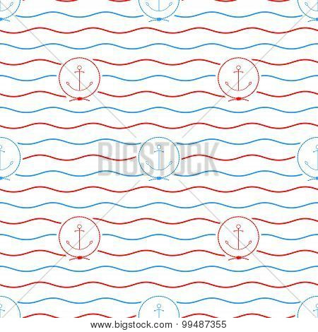 Anchor, Seamless Pattern