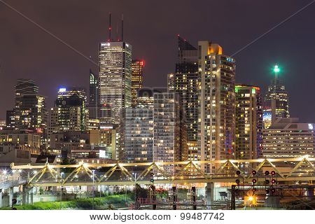 Toronto Downtown At Night