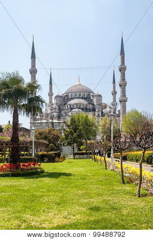 A scenic view of the ancient temple in Istanbul. Turkey.