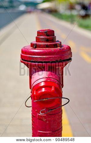 Red Fireplug On The Street