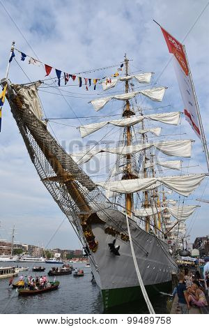 Columbian tall ship Gloria