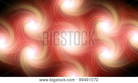 Twirl Flare Pattern Orange Blur