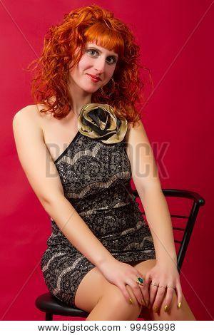 Girl  In An Elegant Dress
