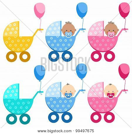 Babies In Strollers, Differen...