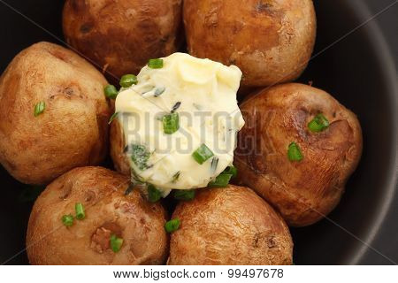 Baked Potato Compound Butter Herb Baguette Thyme Rosemary Coriander Oregano