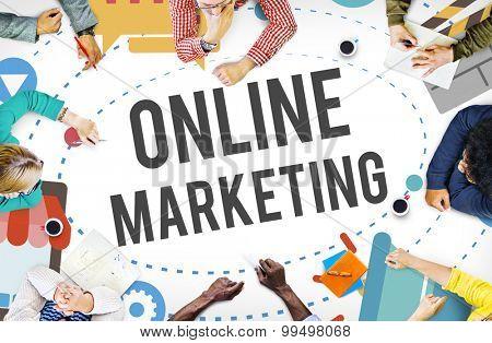 Online Marketing Promotion Campaign Technology Concept